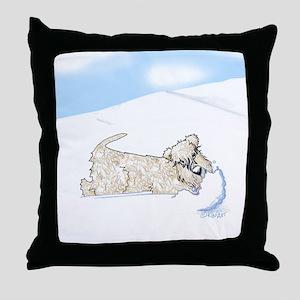 Wheaten Snow Plow Throw Pillow