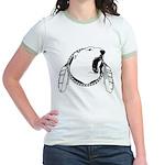 Native Art Tribal Bear Jr. Ringer T-Shirt
