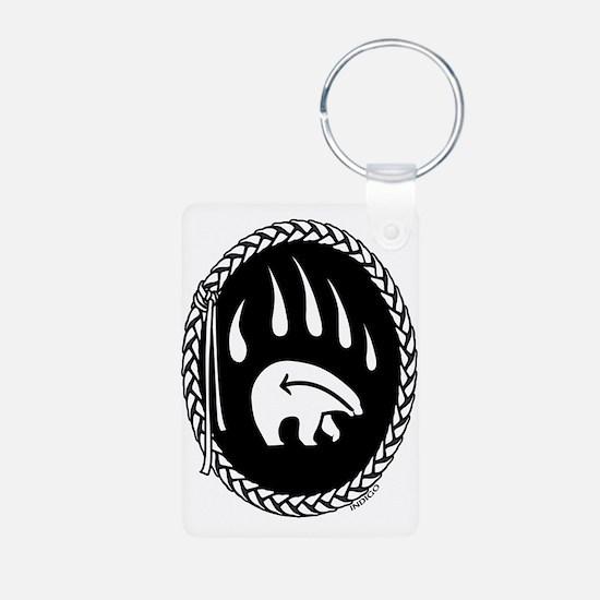 Native Art Keychain Tribal Bear Keychains Gifts