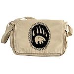 Native Art Tribal Bear Messenger Bag