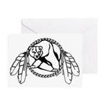 Native Art Tribal Bear Greeting Card