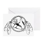 Native Art Tribal Bear Greeting Cards (Pk of 10)