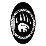 Native Art Tribal Bear Bumper Sticker 10 pk