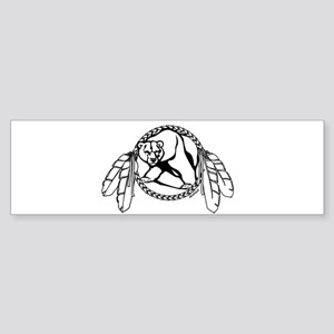 Native Art Tribal Bear Bumper Sticker 10 pk