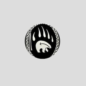 Native Art Buttons Tribal Bear Mini Button