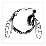 "Tribal Bear Claw Square Car Magnet 3"" x 3"""