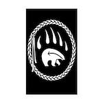 Native Art Tribal Bear Rectangle Car Magnet
