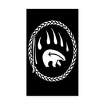 Tribal Bear Claw Rectangle Car Magnet