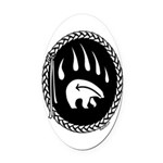 Tribal Bear Claw Oval Car Magnet
