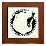 Native Art Tribal Bear Framed Tile
