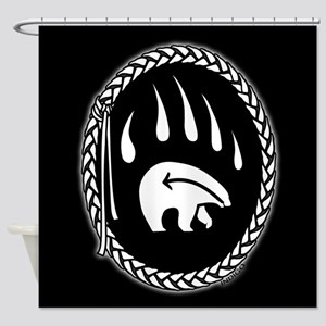 Native Art Tribal Bear Shower Curtains Decor
