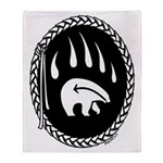 Tribal Bear Claw Throw Blanket