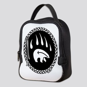 Native Art Tribal Bear Neoprene Lunch Bag