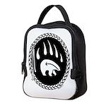 Native Art Tribal Bear Neoprene Lunch Bag