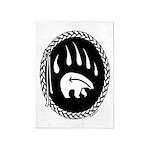 Native Art Rugs Tribal Bear 5'x7'Area Rug