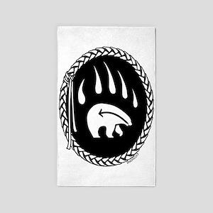 Native Art Tribal Bear 3'x5' Area Rug
