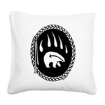 Native Art Tribal Bear Square Canvas Pillow