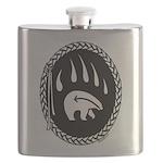 Native Art Tribal Bear Flask