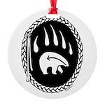 Native Art Tribal Bear Round Ornament