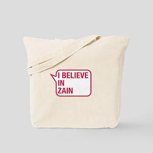 I Believe In Zain Tote Bag