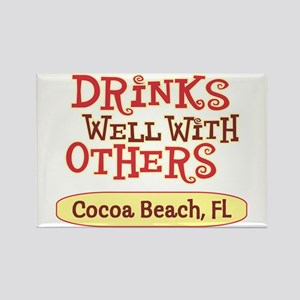 Cocoa Beach - Drinks Well Rectangle Magnet