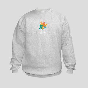 think differently front Kids Sweatshirt