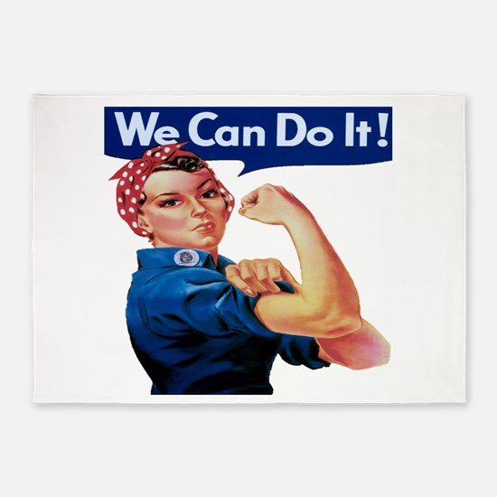 Rosie the Riveter 5'x7'Area Rug