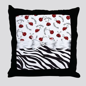 Ladybug Wild Side Throw Pillow