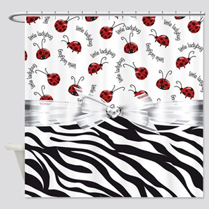 Ladybug Wild Side Shower Curtain
