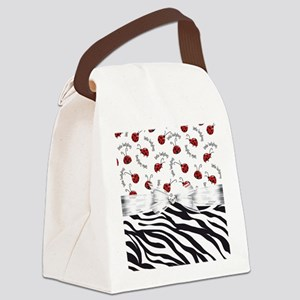 Ladybug Wild Side Canvas Lunch Bag