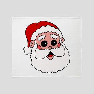 santa head throw blanket