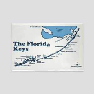 Florida Keys - Map Design. Rectangle Magnet