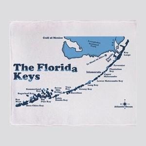 Florida Keys - Map Design. Throw Blanket