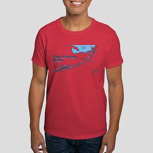 Florida Keys - Map Design. Dark T-Shirt
