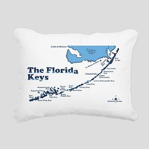 Florida Keys - Map Design. Rectangular Canvas Pill
