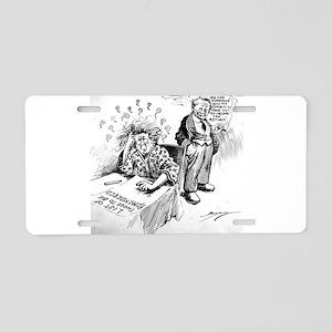 Political Cartoon Aluminum License Plate