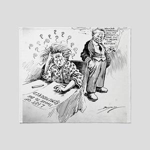 Political Cartoon Throw Blanket