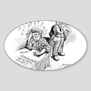Political Cartoon Sticker