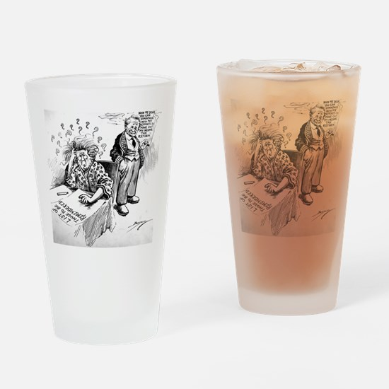 Political Cartoon Drinking Glass