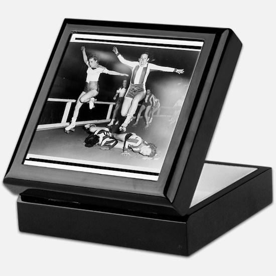 Acrobatic Roller Derby Keepsake Box