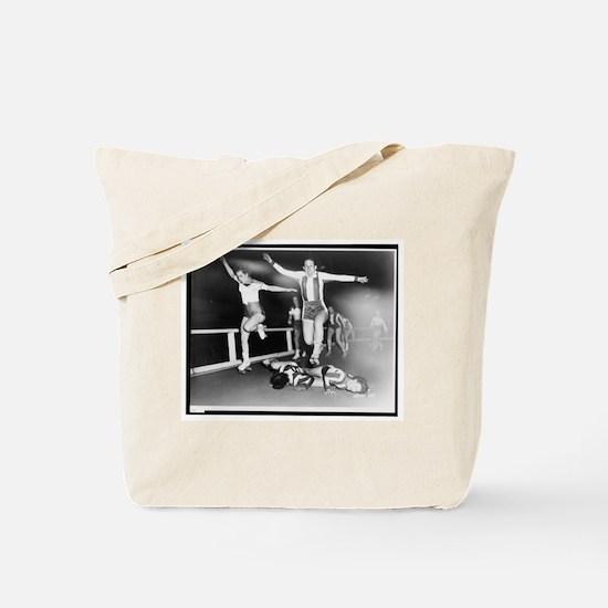Acrobatic Roller Derby Tote Bag