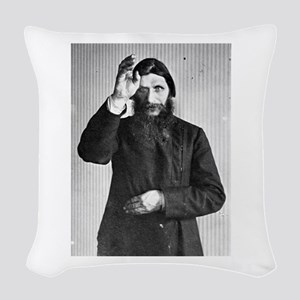 Gregory Rasputin Woven Throw Pillow