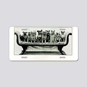 Dogs On A Couch Aluminum License Plate