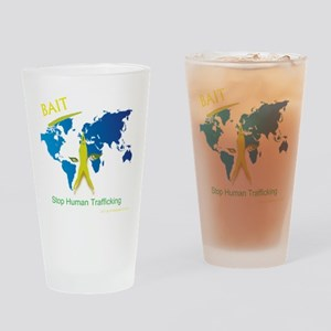 Bait! Stop Human Trafficking Drinking Glass