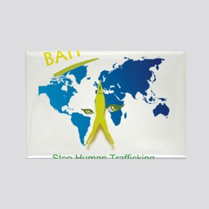 Bait! Stop Human Trafficking Rectangle Magnet