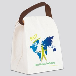 Bait! Stop Human Trafficking Canvas Lunch Bag
