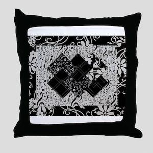 Larissa - Black and White Card Trick pattern Throw
