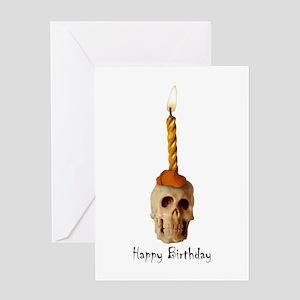 Skull Candle Birthday Greeting Card