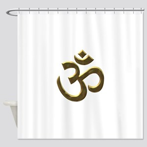 gold ohm Shower Curtain