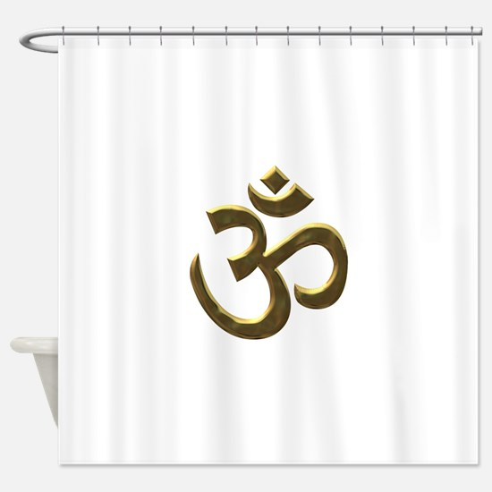 gold ohm.png Shower Curtain